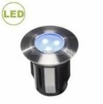 LED svítidlo ALPHA 0,5 W  - Nerez modrá